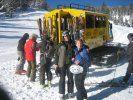 Break in snowcat skiing