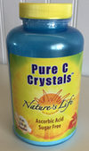 Bottle of pure crystals of ascorbic acid