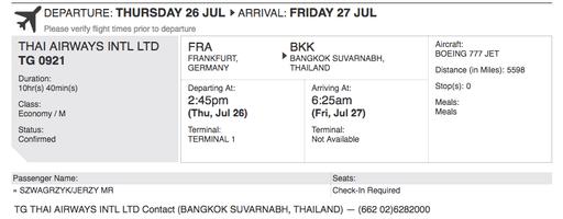 Best Onward Ticket boarding pass