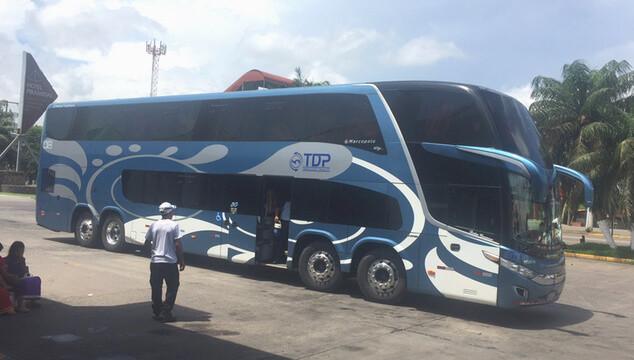 Intercity bus in Panama.